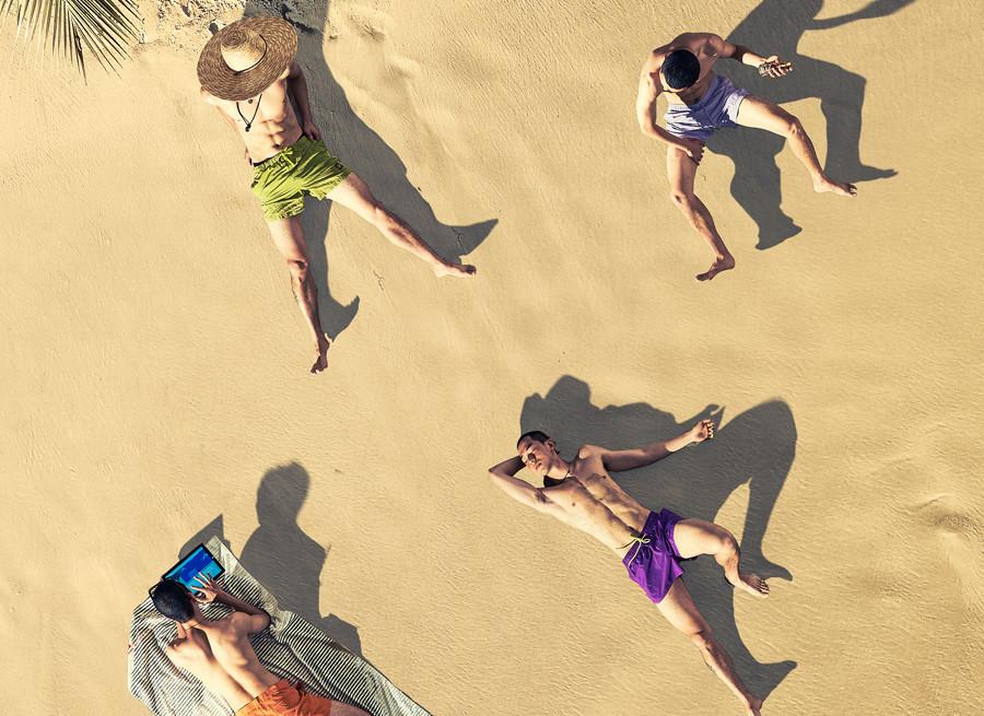 해변의 여름 수영복