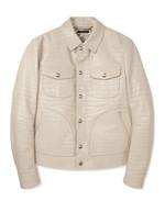 TOM FORD 오프화이트 레더 웨스턴 재킷 1천5백40만원 톰 포드 제품.