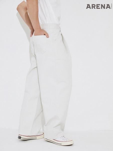 흰색 와이드 팬츠 가격미정 유스 by 비이커 제품.