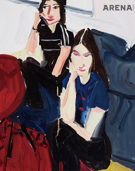 'Carlotta and Esme' 2020, Detail Oil on Board, 50.8×40.5cm. ⓒ Chantal Joffe Courtesy