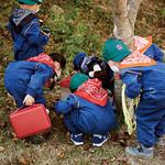 아이들은 숲을 관찰하고 자연에서 나는 것들로 놀이를 하면서 자연을 배운다.