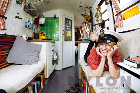 Retts Wood on Her Houseboat, London, 2009. All Images Courtesy of The Selby