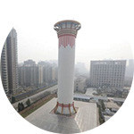 중국에만 있는 초대형 공기정화탑